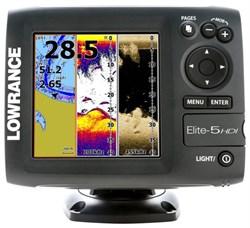 Эхолот Lowrance Elite 5 HDI (83/200+455/800 кГц) - фото 4898
