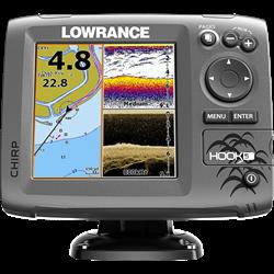 Эхолот Lowrance HOOK-5 Mid/High/DownScan™ - фото 5196