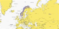 Карты Navionics Small 5G366S NORWAY LAKES INCLUDING BYRKNES TO ROALD - фото 9910