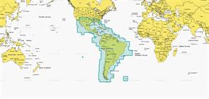 Карта Navionics+ 3XG Центральная и Южная Америка