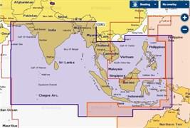 Карта Navionics+ 31XG Индийский океан и Южно-Китайское море