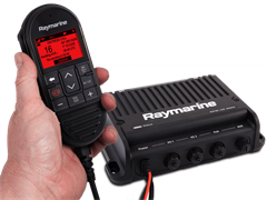 Raymarine Ray 90 VHF Black Box (inc wired handset, passive speaker and cable)